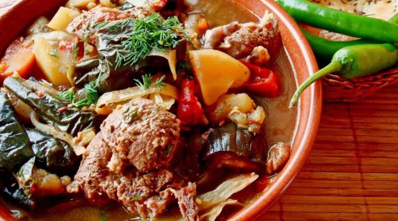 Рагу из баранины с овощами по-армянски
