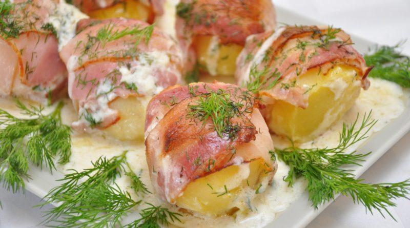 Праздничный Картофель в беконе