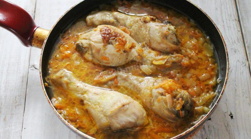Тушеная курица по-мароккански