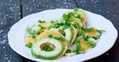 Быстрая Закуска из авокадо и апельсина