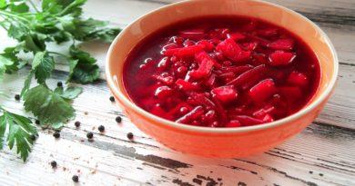 Борщок - русский постный суп