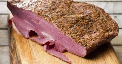 Пастрома (пастрами) - вяленная говядина по-еврейски