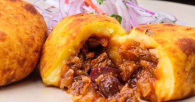 Папа рельена - Блюдо карибской кухни из картошки и мяса