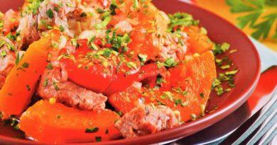 Пастынер - баранина, тушённая с тыквой по-армянски
