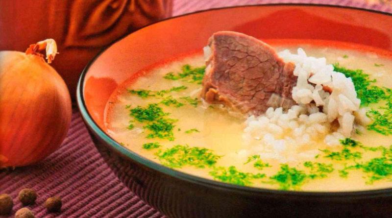 Брндзи апур - Армянский суп из говядины с рисом