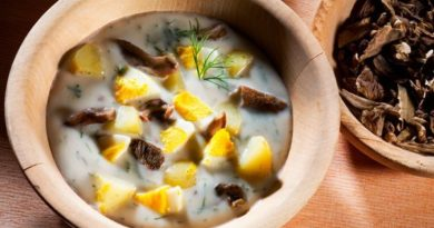 Кулайда -чешский картофельно-грибной суп