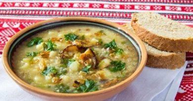 Кулеш - густой славянский суп с пшеном