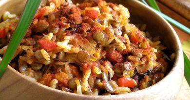 Муджадара - Блюдо арабской кухни из чечевицы и риса