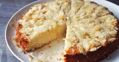 «Пирог мечты» (дрёммекаке) - Датский пирог с кокосовой стружкой