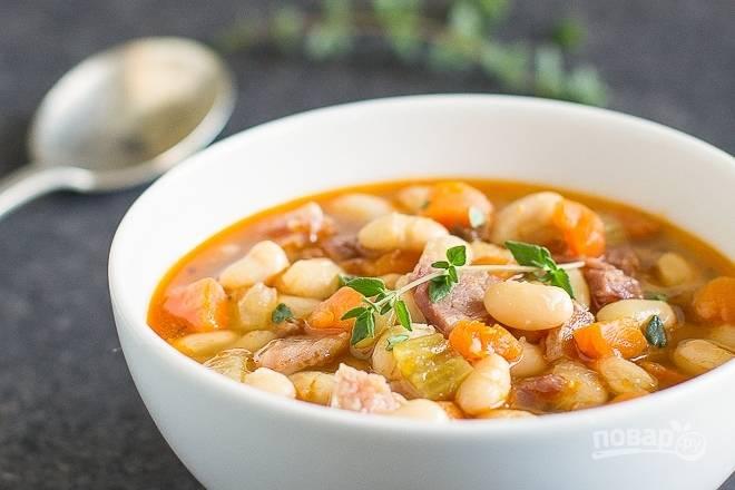 Мсикаташ - густой суп с кукурузой и фасолью по-американски