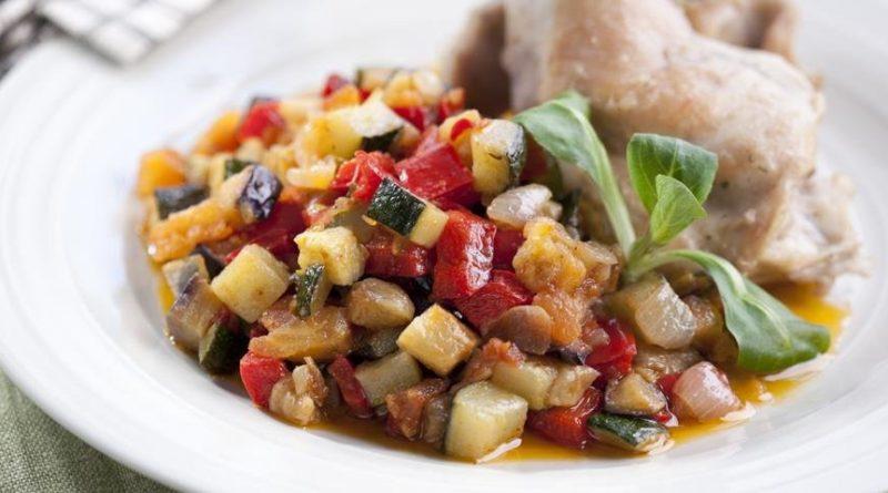 Писто манчего - овощи с ветчиной по-ламанчски