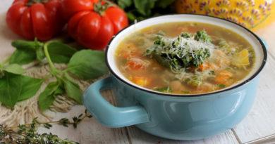 Писту - овощной суп с пастой по-французски