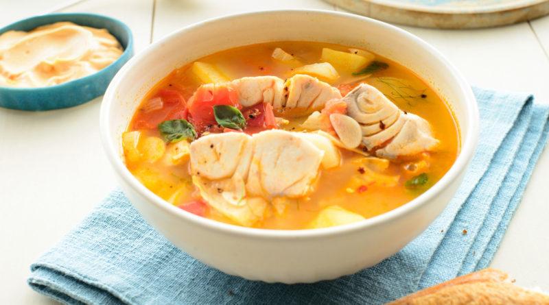 Рыбацкий суп по-гречески