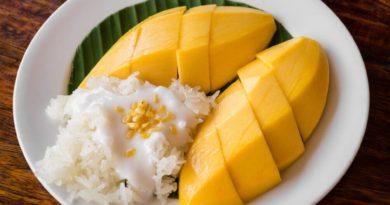 Клейкий рис с манго по-тайски