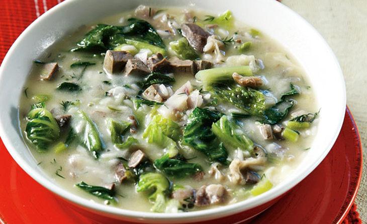 Магирица - Греческий суп из потрохов и риса