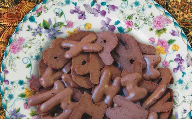 Руссиш брот - Немецкое печенье в форме латинских букв