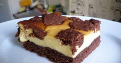 Руссиш цупфкухен - Немецкий десерт, пирог из шоколадного теста с творожной прослойкой