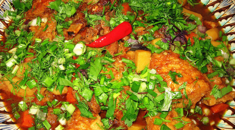 Ковурма - Узбекский мясной суп шурпа