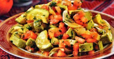 Макфуса - салат по-арабски из кабачков