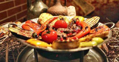 Садж из баранины по-азербайджански