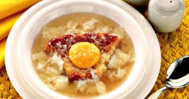Павезе - Запечённый итальянский суп с яйцом