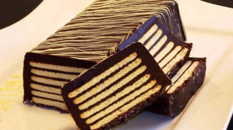 «Холодная собака» - Немецкий торт из сдобного печенья и шоколадного крема