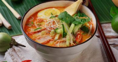 Лакса с креветками - Рыбный суп по-малазийски