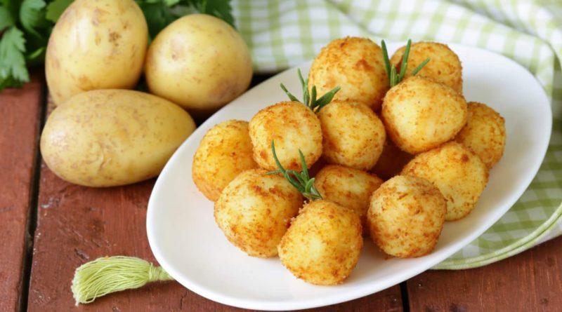 Комы - картофельные шарики со шкварками по-белорусски