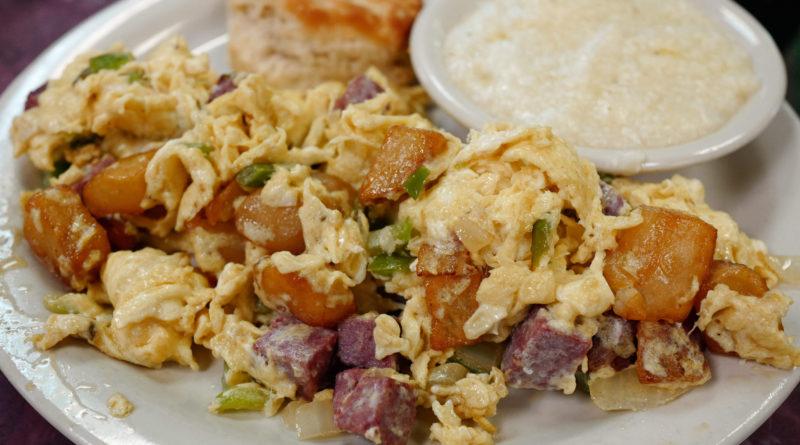 Хоппель-поппель - Немецкая яичница с картофелем и беконом