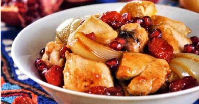 Овришта - жареная курица по-азербайджански