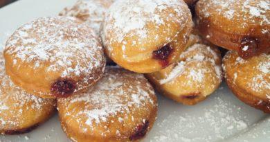 Крапфен (берлинер) - Немецкие пончики с начинкой