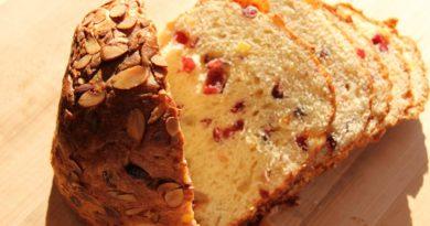 Панеттоне - Итальянский десертный пирог с цукатами и изюмом