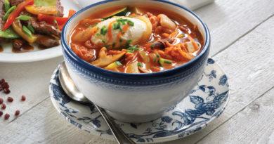 Лам ми - Малазийский острый суп с лапшой и омлетом