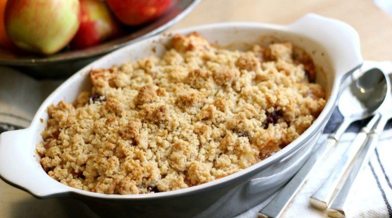 Крамбл - Британский яблочный пирог