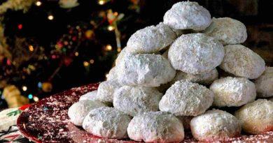 Курабьедес - Греческое печенье в форме шариков