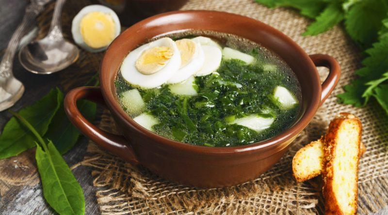Суп со щавелем и одуванчиками
