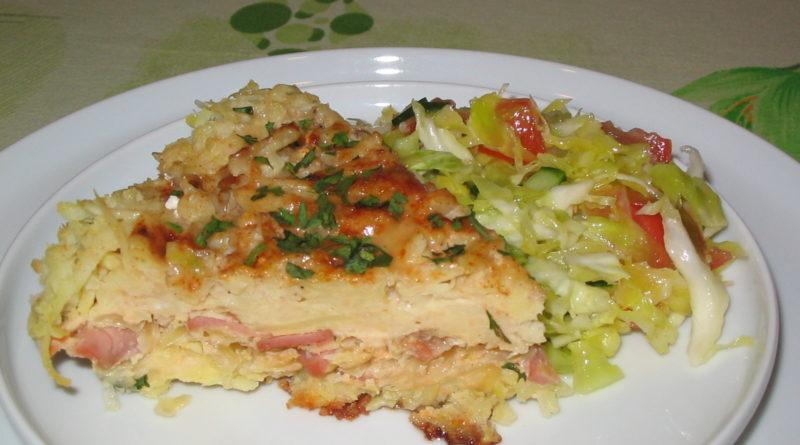 Лежни - Картофельная запеканка с квашеной капустой по-украински