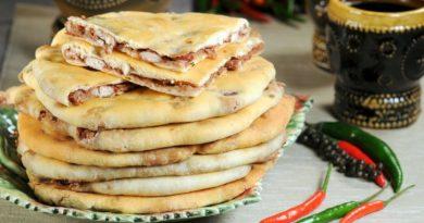Лобиани - Грузинские лепёшки с начинкой из фасоли