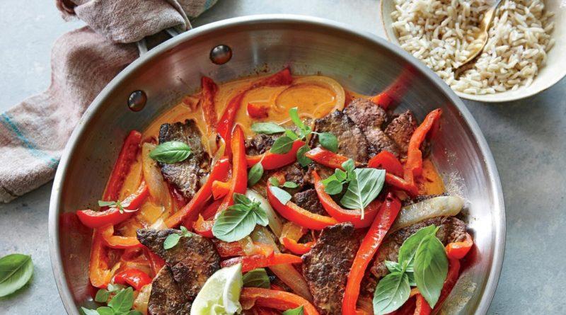 Мясо по-тайски в воке