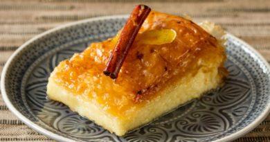 Галактобуреко - Греческий слоёный пирог с начинкой из манной каши