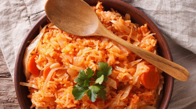 Лоханоризо - Капуста с рисом по-гречески