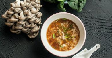 Икра и суп из вёшенок