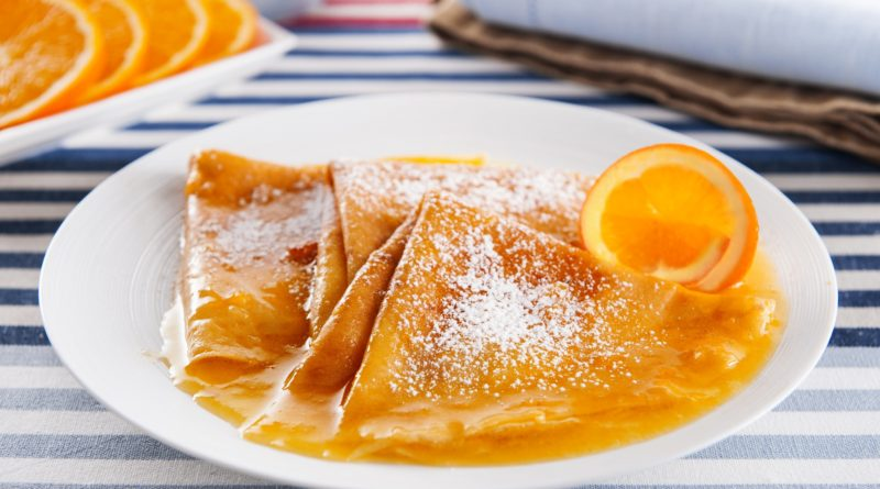 Креп сюзетт - блинчики под соусом из апельсинов по-французски