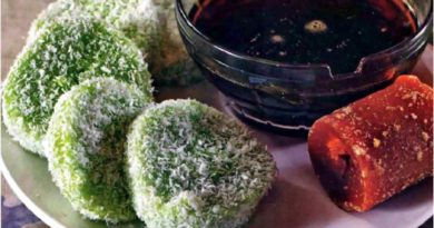 Куи лопес - Малазийский десерт из риса