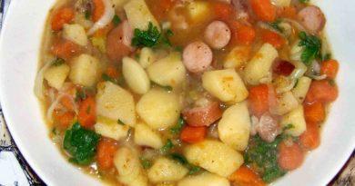 Немецкий картофельный салат и Картофельный суп с сосисками и пивом