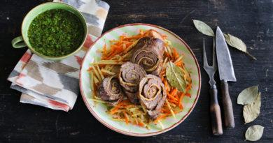 Калжа - Рулет из мяса по-татарски