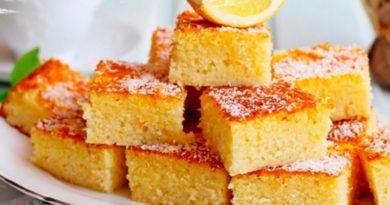 Басбуса — Рассыпчатый сладкий пирог по-арабски
