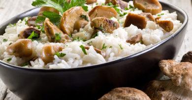 Ризотто с жареными белыми грибами и другие рецепты с белыми грибами
