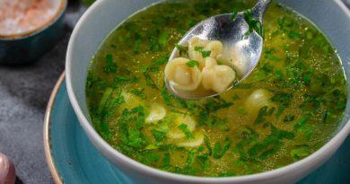Дюшбара - Суп с маленькими пельменями по-азербайджански