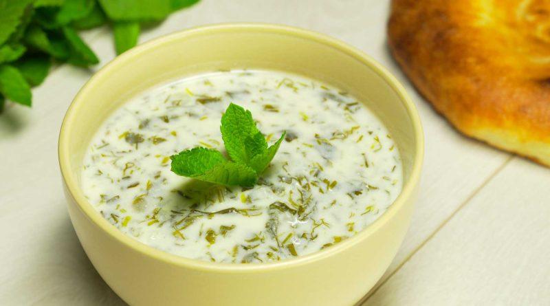 Довга - Рисовый суп с зеленью по-азербайджански